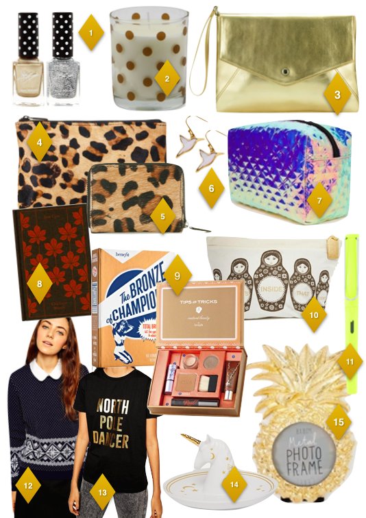 Gift List Gold and Blue jj